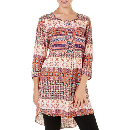 New! Figueroa and Flower Womens Floral Print Tunic