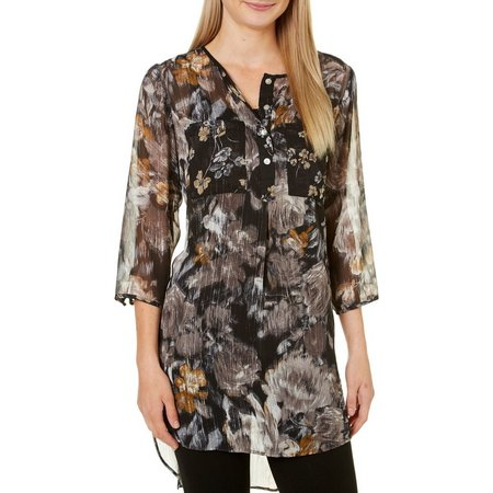 Figueroa and Flower Womens Kendra Floral High-Low Top
