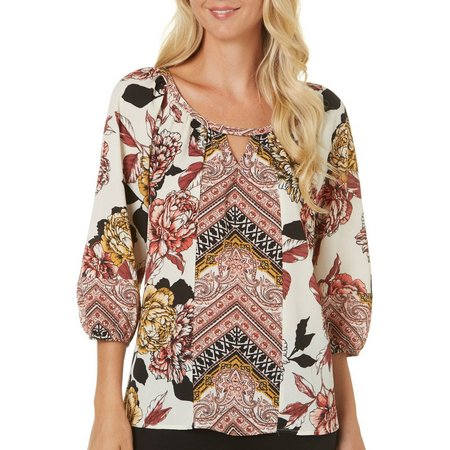 Figueroa and Flower Womens Avery Floral Top