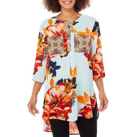 Figueroa and Flower Womens Kendra Floral Print Tunic