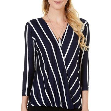 C'est La Vie Womens Necklace & Stripe Wrap