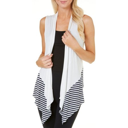 C'est La Vie Womens Draped Stripe Hem Open