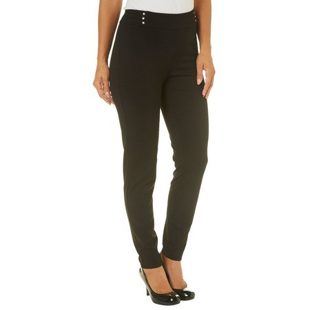 Zac & Rachel Womens Solid Tapered Leg Pull On Pants by Bealls Florida