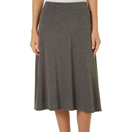 AGB Womens Pull On Slub Knit Skirt