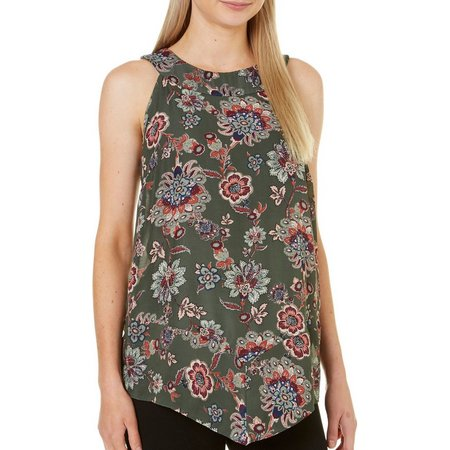 AGB Womens Floral Print Tank Top