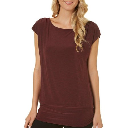 AGB Womens Modern Luxe Embellished Shoulder Top