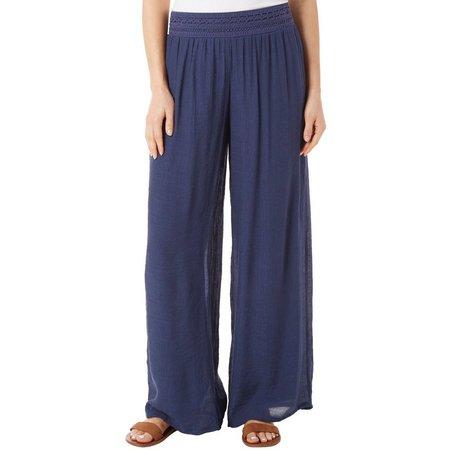 AGB Womens Wide Leg Gauze Pants