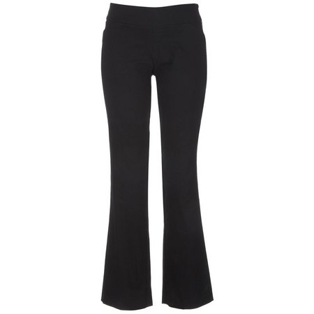 AGB Womens Solid Pull On Pants