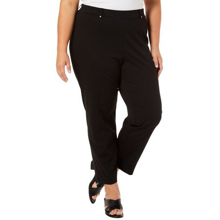 Cathy Daniels Plus Solid Pull-On Pants