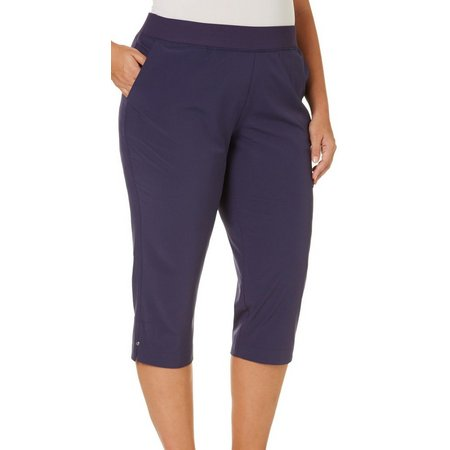 Coral Bay Plus Solid Pull-On Performance Capris