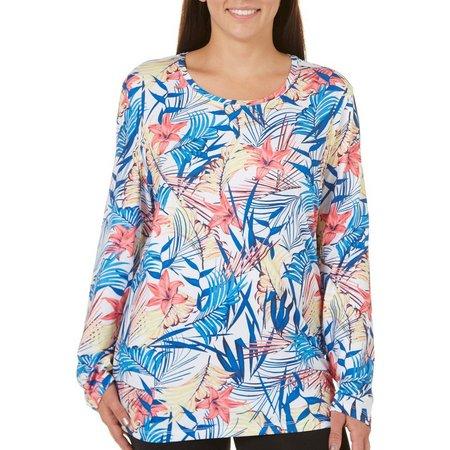 Coral Bay Energy Plus Floral Print T-Shirt