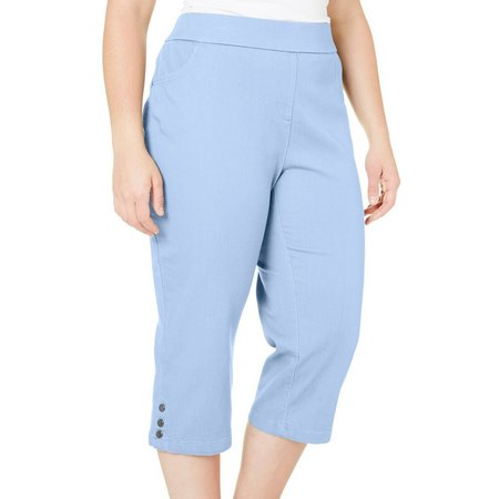 Coral Bay Plus Solid Super Stretch Capris