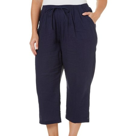 Coral Bay Plus St Augustine Pull-On Linen Capris