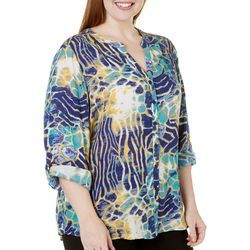 Coral Bay Plus St Augustine Reptile Gauze Top