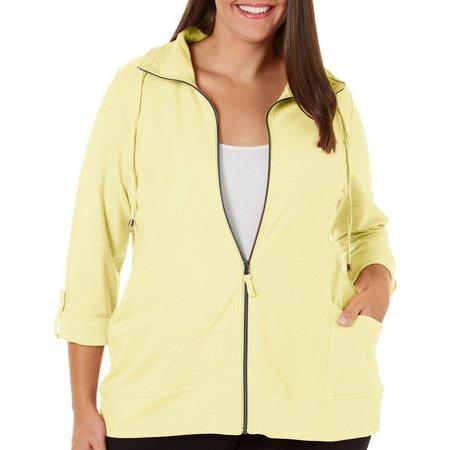 Coral Bay Plus Solid Slub Knit Jacket
