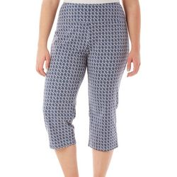 Coral Bay Plus Pull-On Wicker Tile Capris