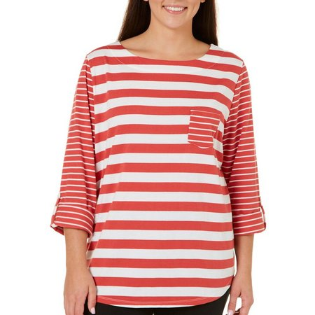 Coral Bay Plus With Love Striped Top
