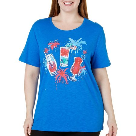 Coral Bay Plus Stars And Stripes Drinks Top