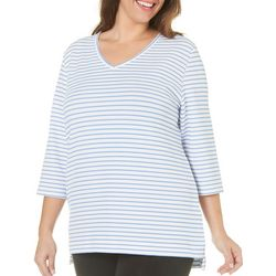 Coral Bay Plus Textured Striped Top