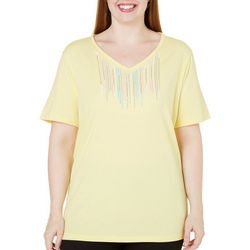 New! Coral Bay Plus Natural Coast Embroidery Top