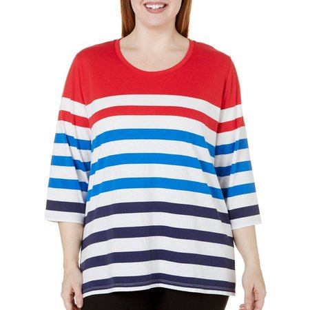 Coral Bay Plus Engineered Striped Top