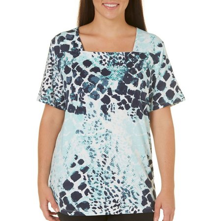 Coral Bay Plus Ocean Drive Animal Square Neck