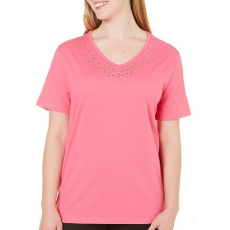 Coral Bay Plus St Augustine Embellished Neck Top