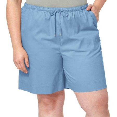 New! Coral Bay Plus Pull On Drawstring Shorts