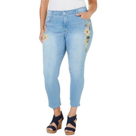 BANDOLINO Plus Selena Denim Cop Jeans