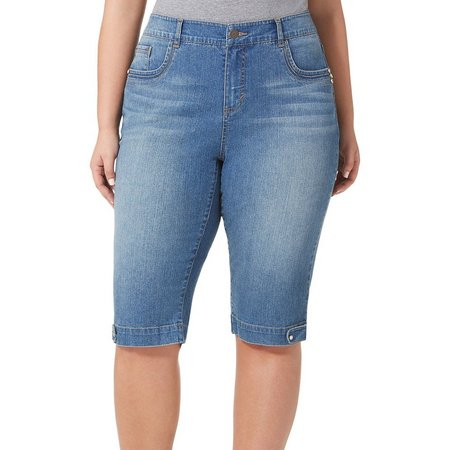 BANDOLINO Plus Denim Brady Capris