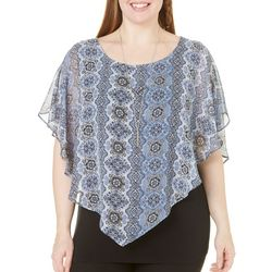 AGB Plus Flower Printed Popover Top