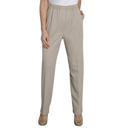 Alia Plus Microfiber Solid Pull On Pants