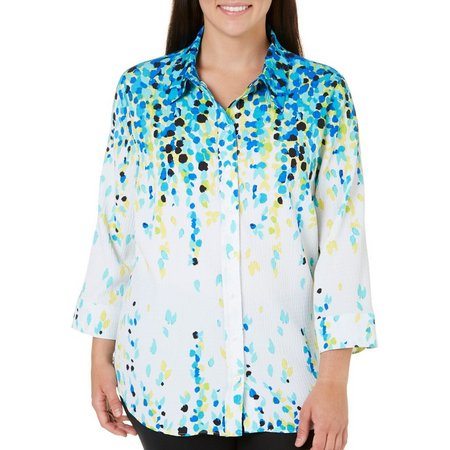 Alia Plus Cascade Petal Textured Top