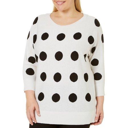 Alia Plus Dots Dolman Sweater
