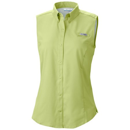Columbia Plus Sleeveless Solid Tamiami Top
