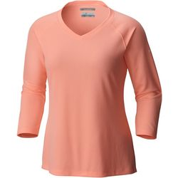 New! Columbia Plus PFG Skiff Agua V-Neck Top