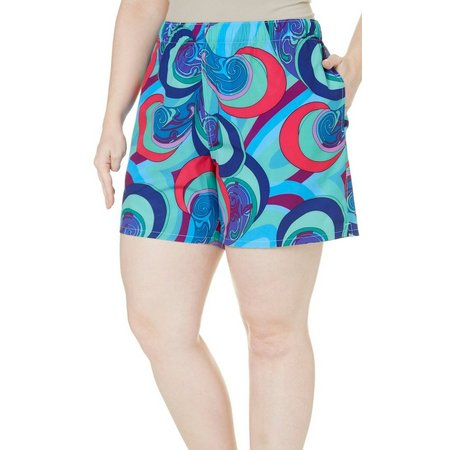 Reel Legends Plus Psychedelic Print Shorts