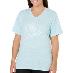 Reel Legends Plus I Love Florida Graphic T-Shirt