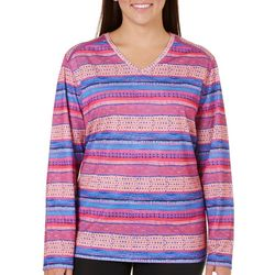 Reel Legends Plus Freeline Stripe Long Sleeve Top