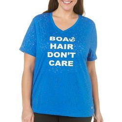 Reel Legends Plus Boat Hair Graphic T-Shirt