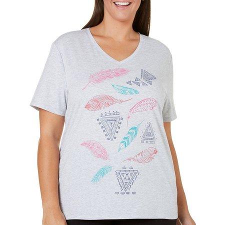 Reel Legends Plus Feather Graphic T-Shirt