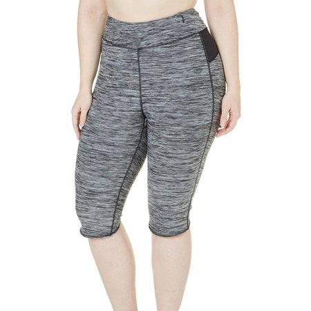 New! Brisas Plus Space Dyed Color Block Capris