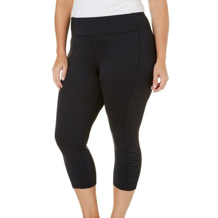 Brisas Plus Solid Ruched Active Leggings