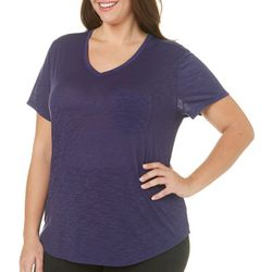 Brisas Plus Slub Knit Pocket Top