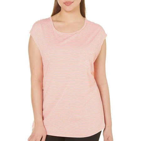 Brisas Plus Sleeveless Dolman Stripe T-Shirt