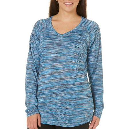 RBX Plus Long Sleeve Space Dye Heathered Top