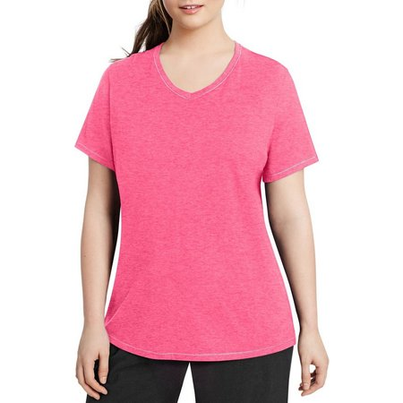 Champion Plus Solid Jersey V-Neck Top