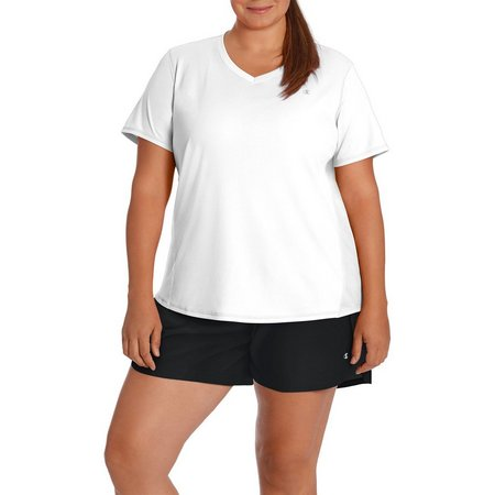 Champion Plus Vapor Solid V-Neck Active T-Shirt