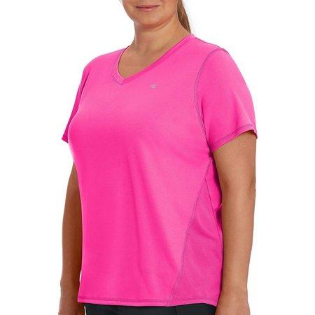 Champion Plus Vapor Solid V-Neck Active T-Shirt
