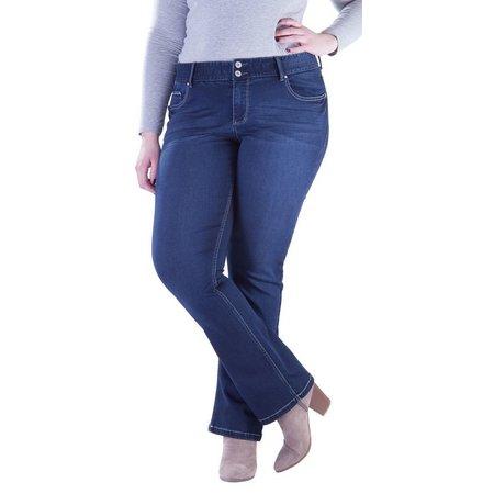 Amethyst Juniors Plus Curvey Flex Midrise Jeans